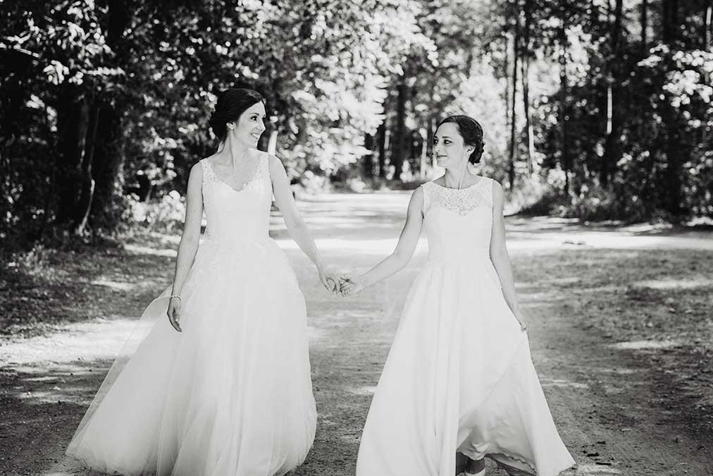 lesbische Hochzeit - freie Trauung