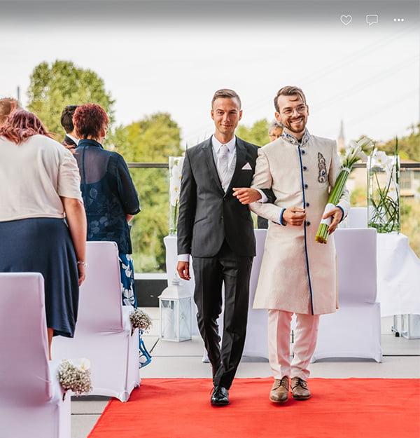 Freie Trauung einer schwulen Hochzeit